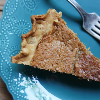 Buttermilk & White Pepper Pie with Molasses