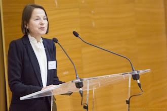 Photo: Nathalie Van de Wiele, présidente de Femmes & Sciences - Photo Olivier Ezratty