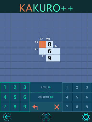 Kakuro Plus. Cross-Sums. 1.4.0 screenshots 10