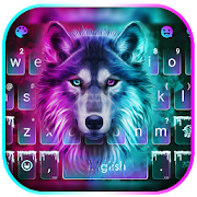 Neon Wolf New Keyboard Theme