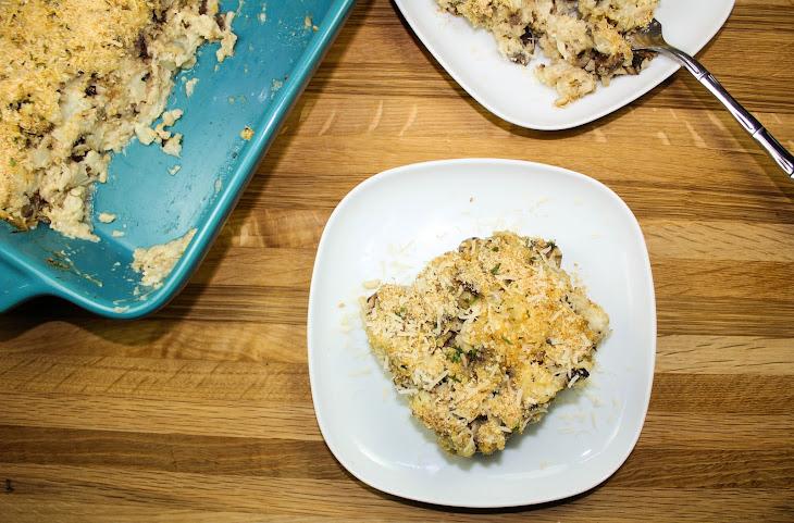 Cauliflower Rice Mushroom Casserole Recipe