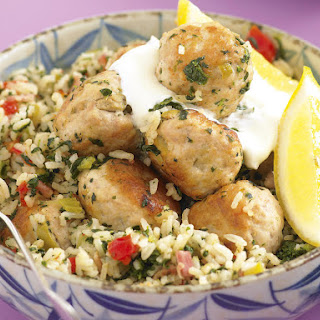 Green Olive Meatball Pilaf