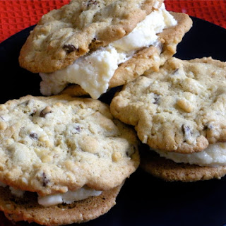 Amaretto Chocolate Chip Cookie Sandwiches