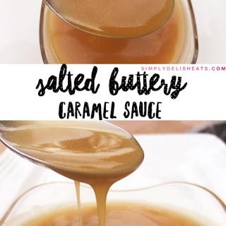 Salted Buttery Caramel Sauce.