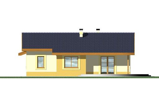 Mniszek z garażem - Elewacja tylna