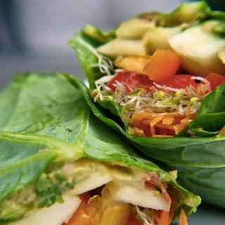 How to Make Raw Vegan Veggie Stuffed Collard Wraps.