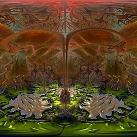 Flooring Gnarly by Rick Eskridge - Illustration Sci Fi & Fantasy ( fantasy, gnarly, mb3d, fractal, twisted brush )