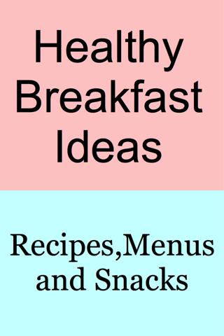 Breakfast Menu Ideas