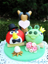 Photo: Angry Birds Inspired Cake Topper It's more sweet than angry for sure!