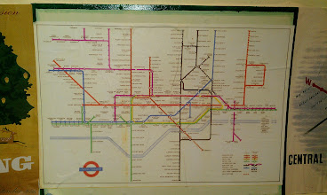 Photo: What looks like a late 40's map, showing some tube extensions that never came to fruition