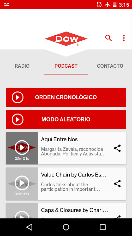 Dow Radio- screenshot
