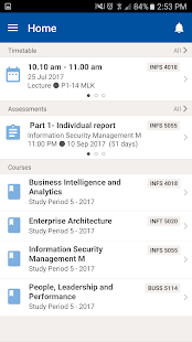 UniSA App - náhled