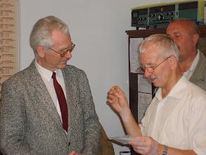 Photo: Wręczanie złotej odznaki PZK w klubie SP6PRT 26 czerwca 2009 r