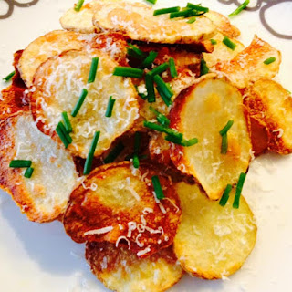 Homemade Parmesan Potato Chips.