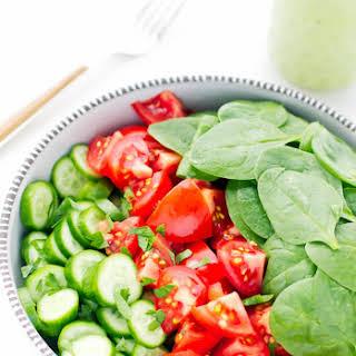 Spinach Tomato Cucumber Salad Recipes.