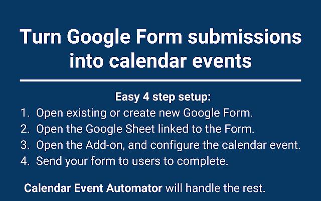 Calendar Event Automator - G Suite Marketplace
