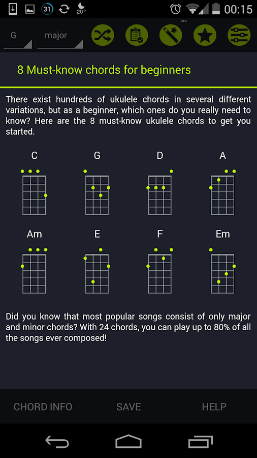 Pocket Ukulele Chords- screenshot
