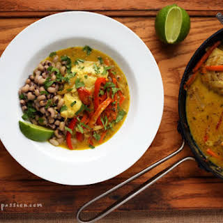 Poached Fish in the Fiery Creole Style.