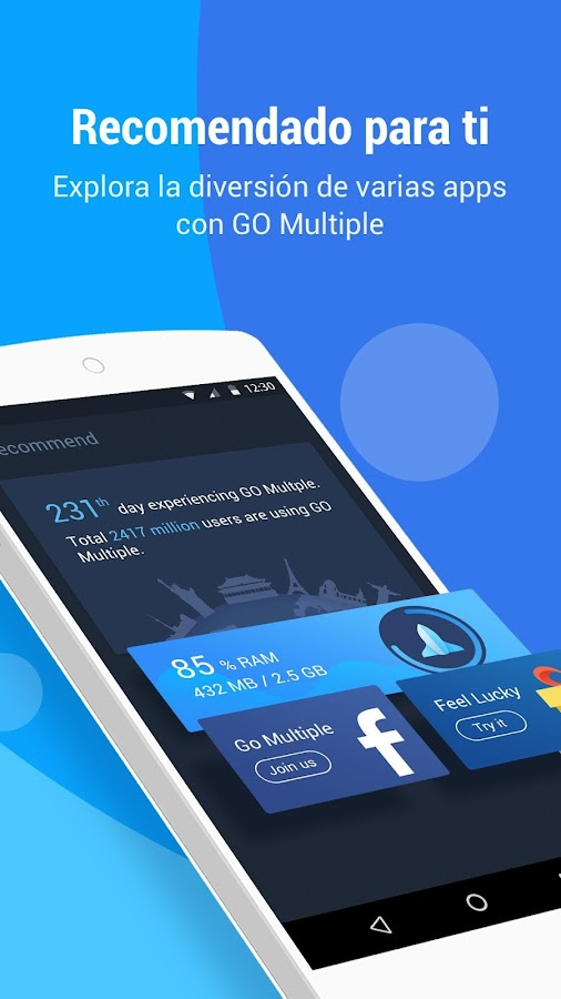 GO Multiple: captura de pantalla