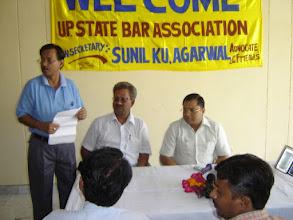 Photo: Dr Adish C. Aggarwala at U.P. State Bar Association function at Hapur . 24.11.2006