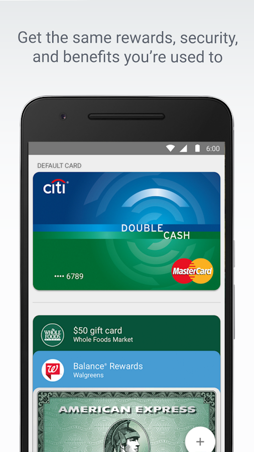 Android Pay: screenshot
