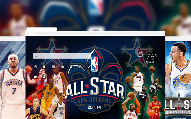 NBA All Stars Basketball HD Wallpaper Theme