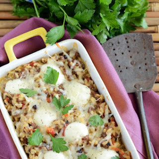 Cheesy Beef and Orzo Casserole