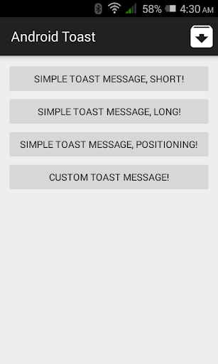 Toast Example for Android