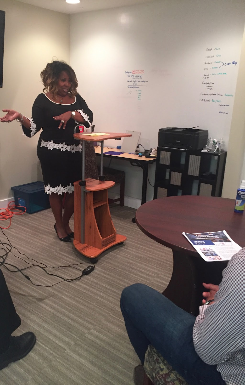Linda CHatmon training at Contracts & Grants, LLC