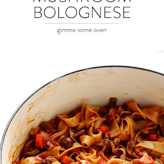 Mushroom Bolognese.