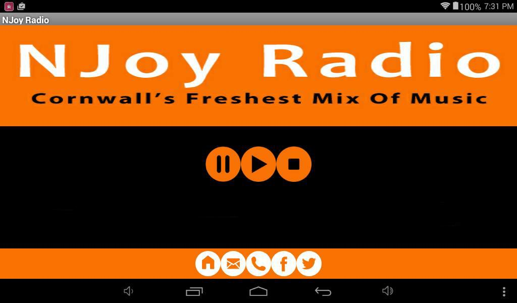 NJoy Radio Cornwall- screenshot