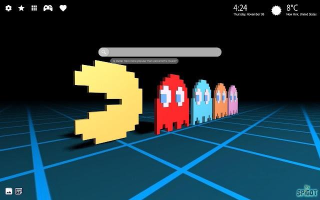 Pac-Man HD Wallpaper Chrome Theme