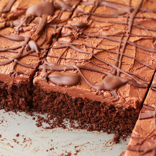 Chocolate Sheet Cake with Chocolate Fudge Frosting.