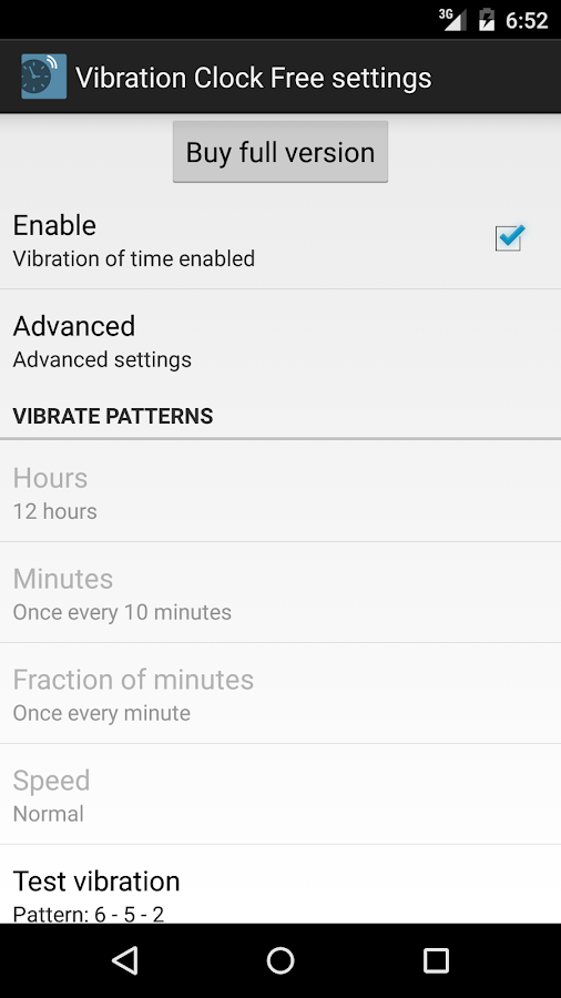 Vibration Clock Free- screenshot