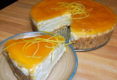 """Creamy Lemon Cheesecake """"This is the creamiest, most delicious lemon cheesecake, I..."""