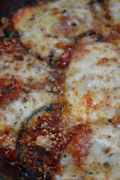 eggplant and mozarella skillet safranaargana