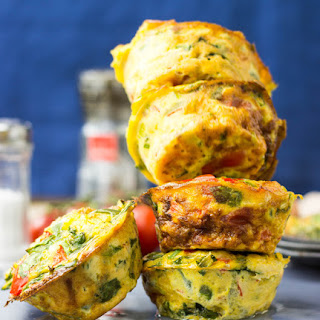 Low Carb Egg Breakfast Muffins (25 Minutes, Vegetarian)