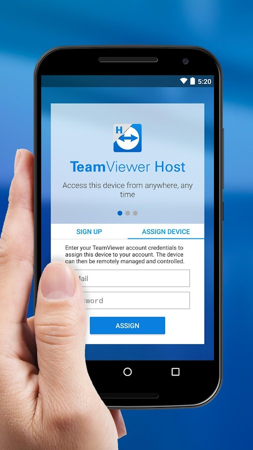 TeamViewer Host- screenshot