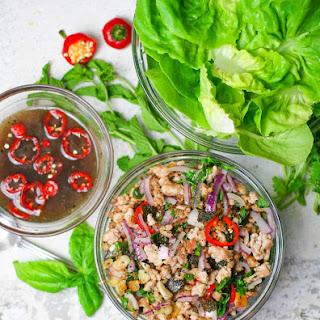 Thai Pork Lettuce Wraps.