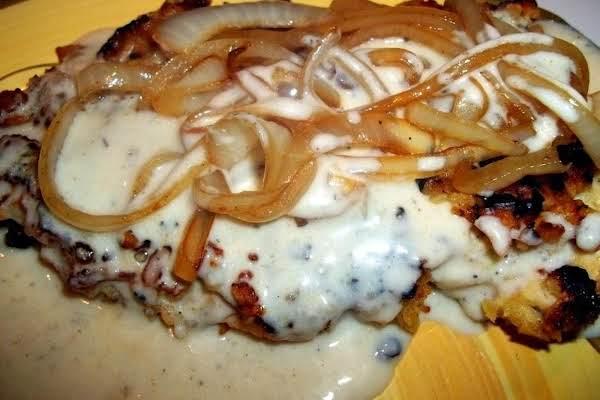 Chicken Fried Chicken W/ Onions & Buttermilk Gravy