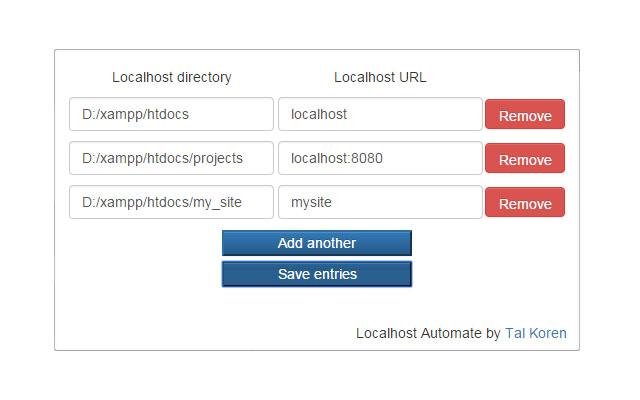 Localhost Automate