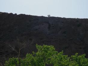 Photo: Tina and Ned toe the Chinle ridge line.