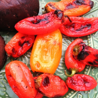 Grilled Mini Peppers.