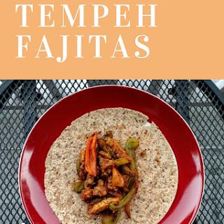 Spicy Vegan Tempeh Fajitas.