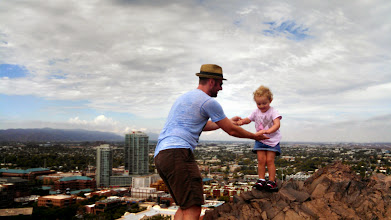 """Photo: August 13-After getting Mya off to school, cousin Eric took Isabelle and I up """"A"""" Mountain."""