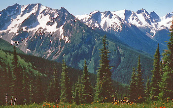 Photo: 44. Leo's Lump and Ten Peak Mountain from flower dome. Glacier Peak out of picture to the right.