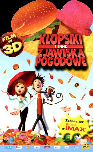 Przód ulotki filmu 'Klopsiki i Inne Zjawiska Pogodowe'