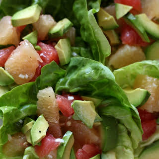 Butter Lettuce, Grapefruit and Avocado Salad.
