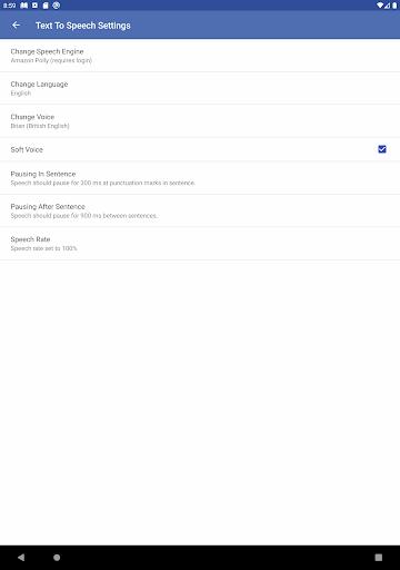Evie - The eVoice book reader 4.1.2 screenshots 13