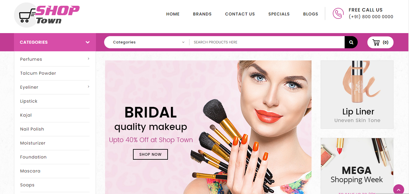 Shop Town - Cosmetic opencart theme: